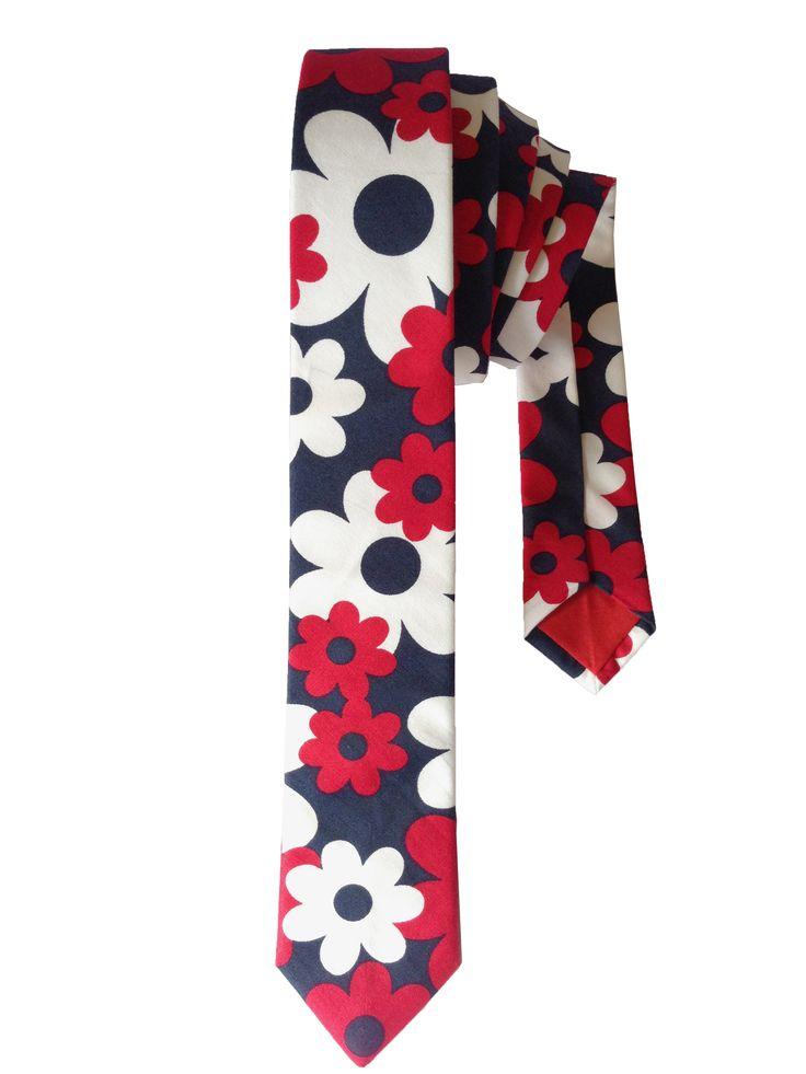 Mod Flower Skinny Tie