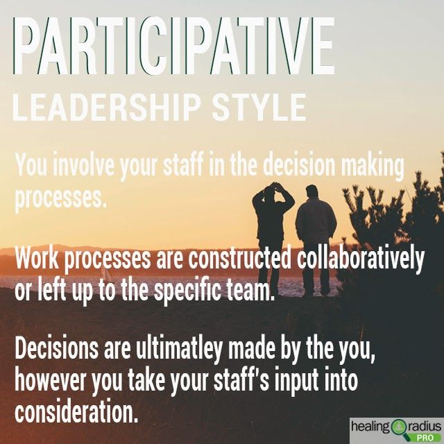 participative democratic leadership style Participative/democratic leadership style the assumption behind participative leadership (also known as democratic leadership) is that employees will assume a significant role in achieving the organizational objectives where leader's role will be the creation of a conducive.