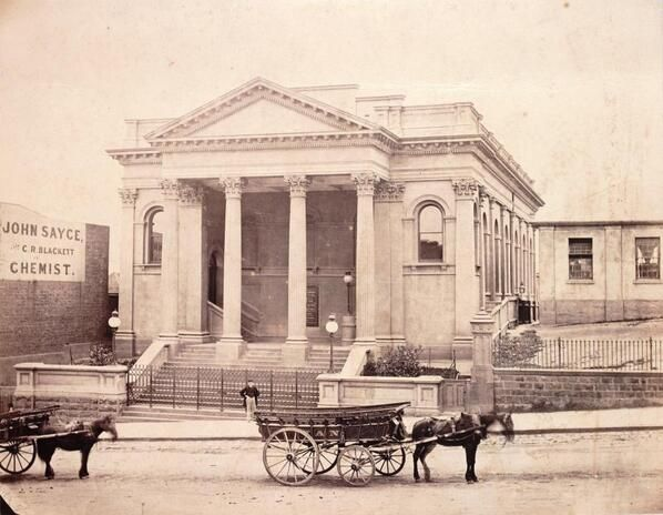 Collins St Baptist Church, Melbourne, c.1870, via State Library
