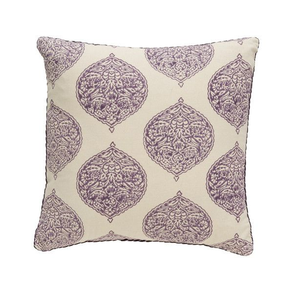 Aubergine Isabelle Blockprint Pillow