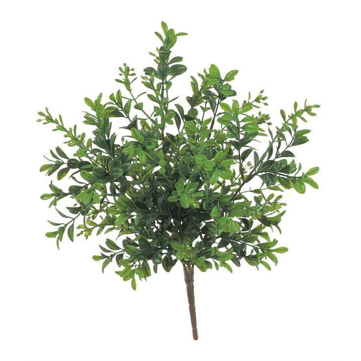 """Artificial Mini Boxwood Bush in Green<br>12"""" Wide x 12"""" Tall"""