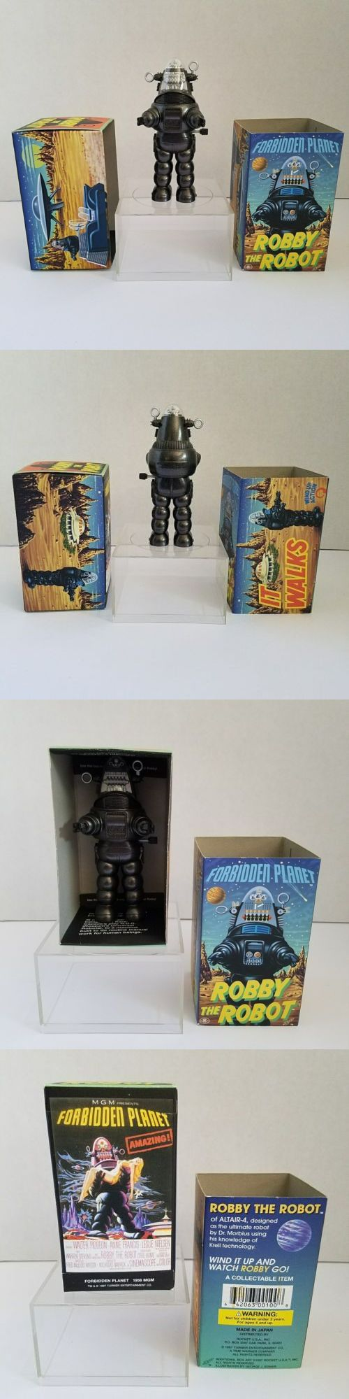 1970-Now 19198: Forbidden Planet Robby The Robot Wind Up With Box 1997 Rocket Usa -> BUY IT NOW ONLY: $45 on eBay!