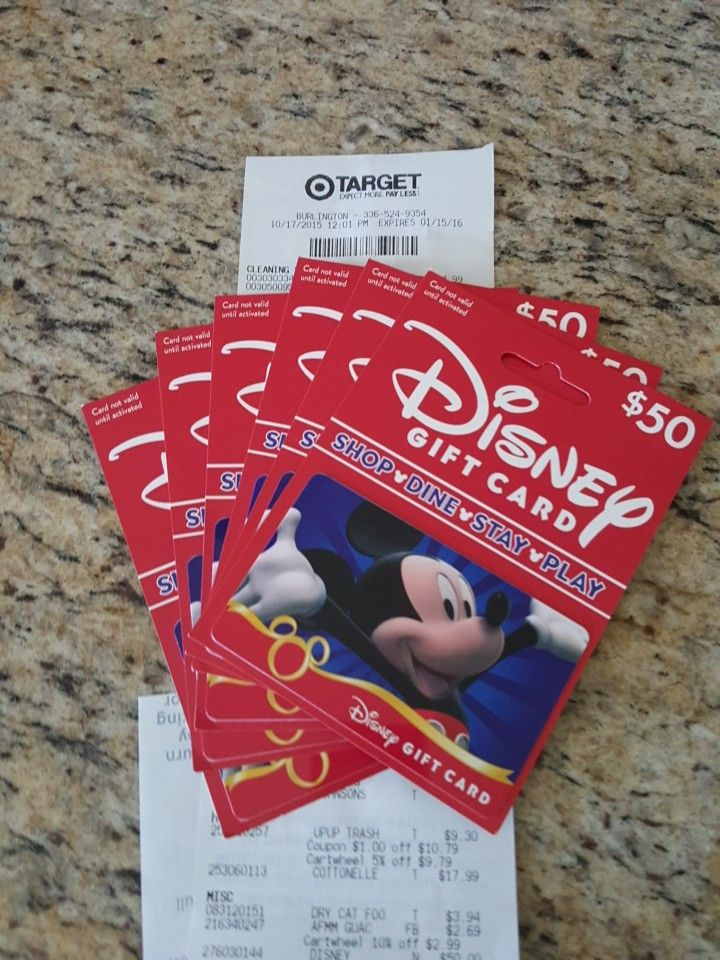 Save 5% on Disney Vacations by using your Target Red Card ... this is a great tip! You can use gift cards to make payments in your vacation and while at the resort.