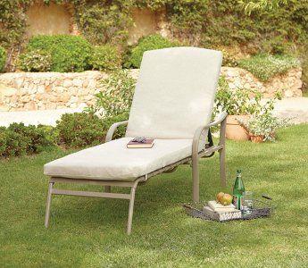 Haversham Classic Multi Position Cushion Lounger | Garden Furniture | George at ASDA