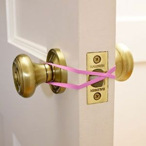 Use this little trick to close the door quietly so as not to wake the little ones .