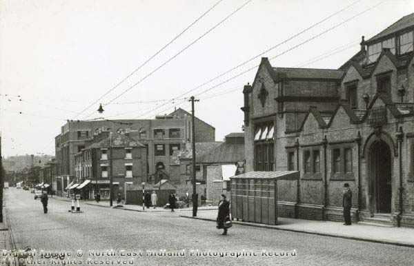 Carlton Road Library and Carlton Road, Nottingham, 1950