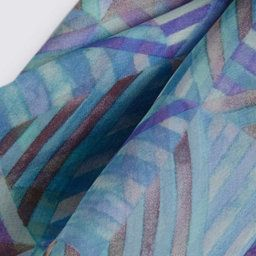 Pure Silk Abstract Print Scarf | M&S