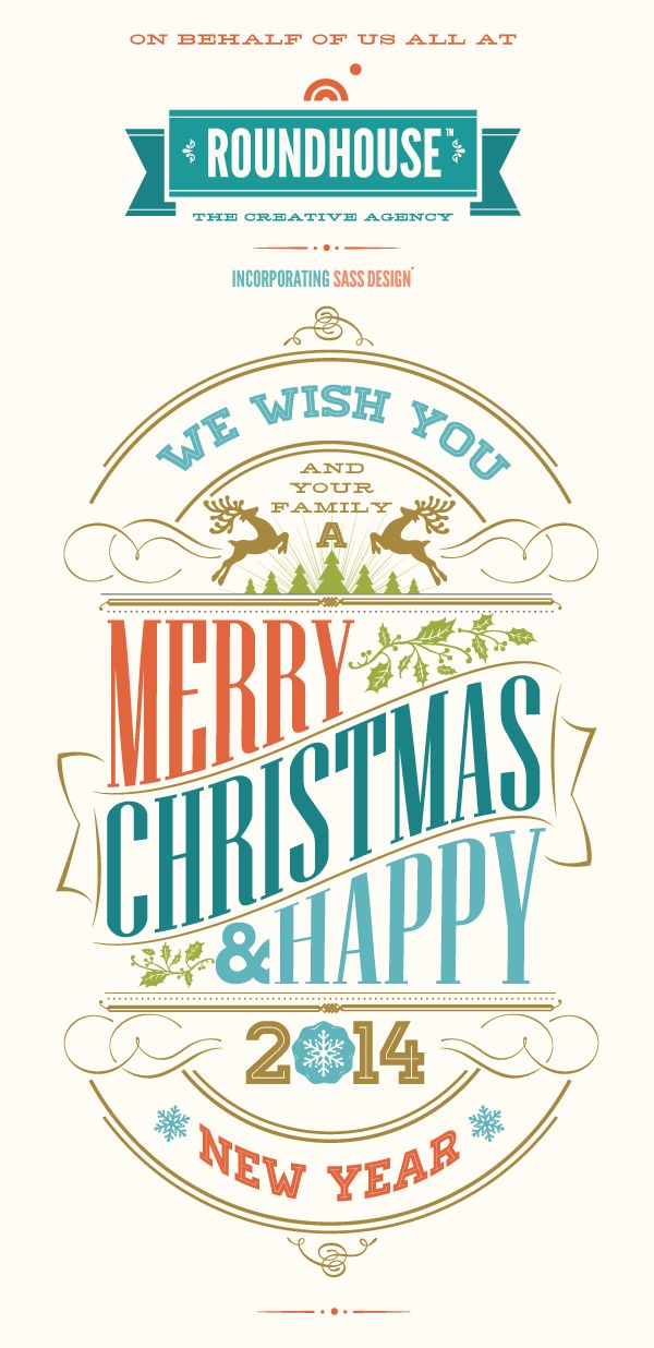 From us all at Roundhouse Creative - Have a Very Merry Xmas and Great New  Year !Thank you to all our wonderful clients, friends & colleague...