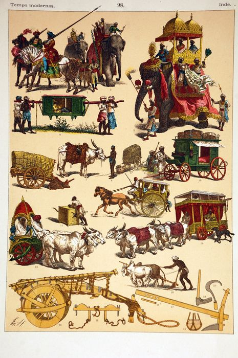 Have a look at the 1850 print of different modes of transportation in India!  #1850 #transportation #India #AncientIndia #transportation