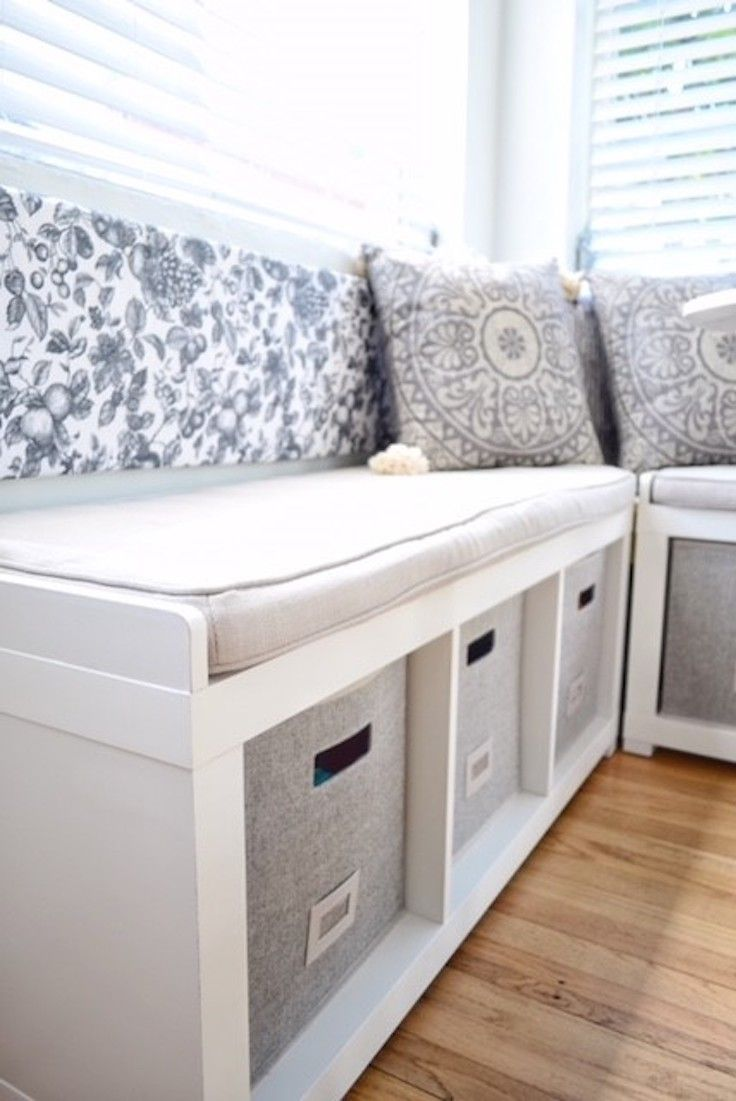 3 Cube Organizer Bench Via Know How She Does It Cube Storage Bench Storage Bench Bedroom Diy Storage Bench