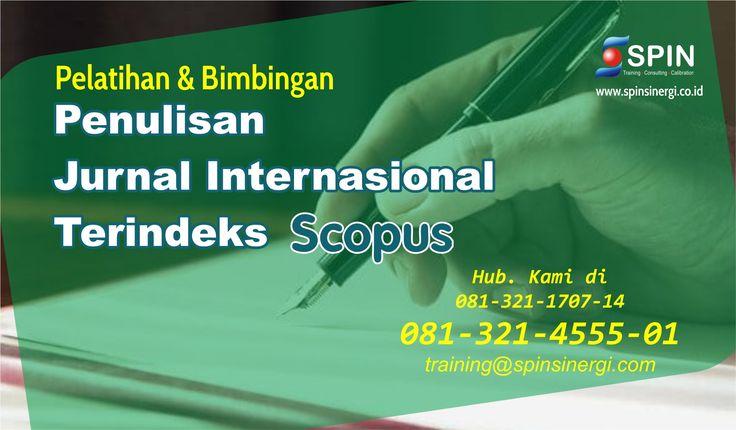 Bimbingan Penulisan Jurnal Indonesia, Info: 081-321-4555 ...