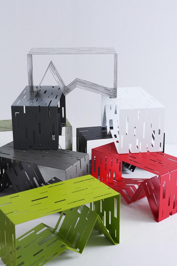 Plate magazine rack DATA by Diamantini & Domeniconi | #design Pascal Tarabay coffee #table #colour