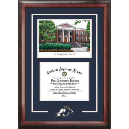 University of Akron Zips 8.5 inch x 11 inch Spirit Graduate Diploma Frame with Campus Images Lithograph