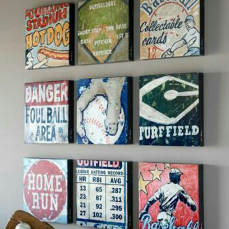 Baseball Wall Art 58 best sports wall art decor for baseball, football, soccer