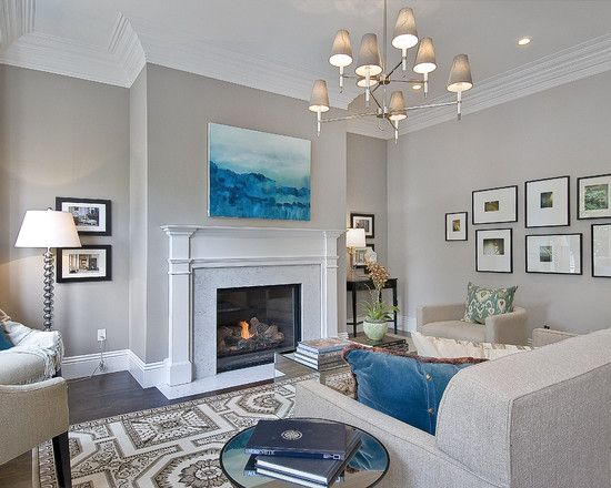 Paint Color BM Abalone Traditional Living Room By Cardea Building Co. Part 68