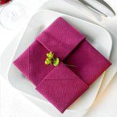 pliage serviette damier