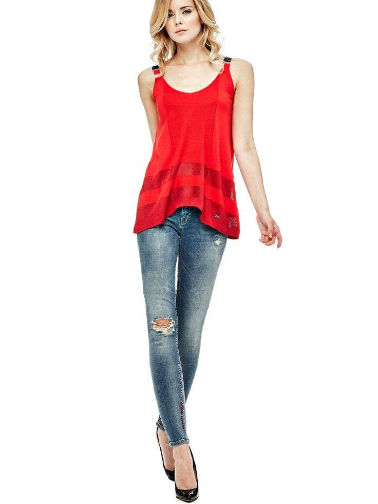 VAQUEROS SLIM PARCHE CORAZÓN | GUESS.eu #moda mujeres #fashion women