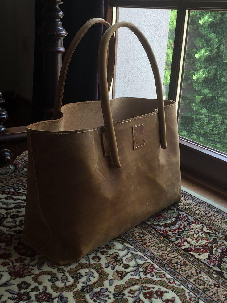 XXL leather shpper extra large leather bag Weekender leather shopping bag bulk shopping used look handmade