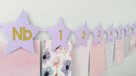 Check out this item in my Etsy shop https://www.etsy.com/ca/listing/584316959/12-month-photo-banner-purple-stars-gold