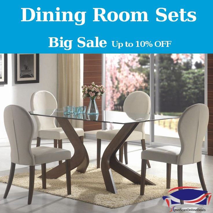 Big Sales! Shop now and get up to 10% discount on #DiningRoomSets at #AmericanOnlineDeals.