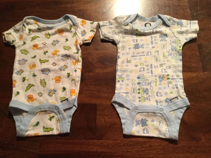 Gerber baby boy 0-3 month set of two onesies  | eBay