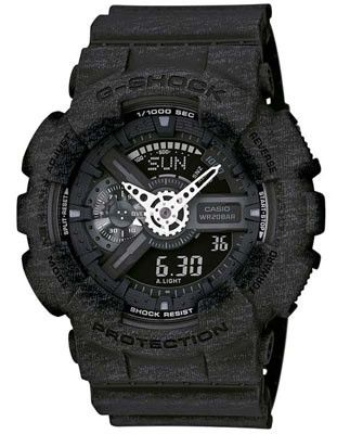 Casio G-Shock Big Case - Black Heather Pattern - Magnetic Resistant - 200M