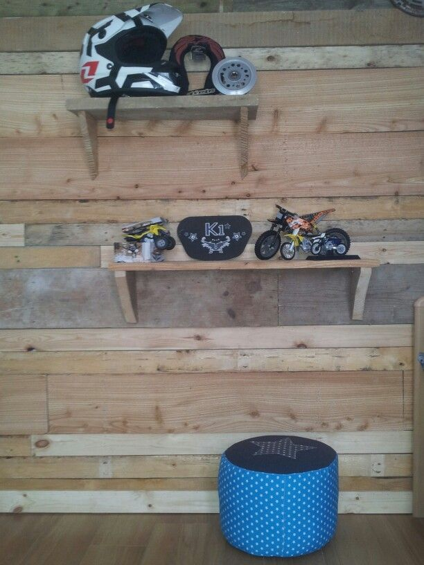 Stoere wall in de mx kamer. Mx boys room. Wall.