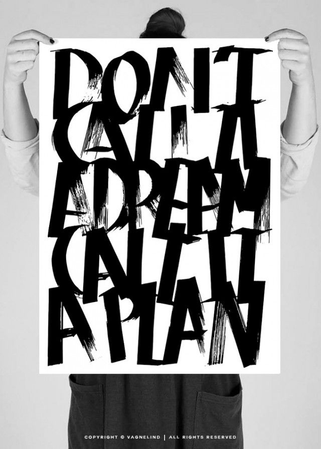 CALL IT A PLAN poster print by Scandinavian Vagnelind - Nordic Design Collective