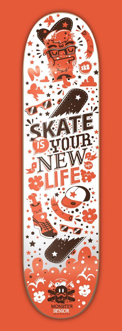 Monster Senior Skateboards company by New Fren, via Behance