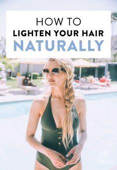 how to lighten your hair naturally summer pinterest
