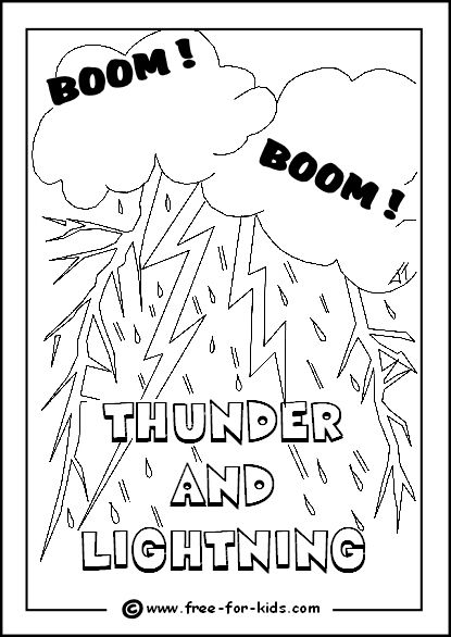 coloring pages for types of weather