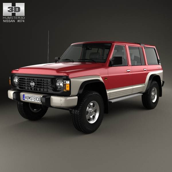 Nissan Patrol (Y60) 5-door 1987 3d model from humster3d.com. Price: $75