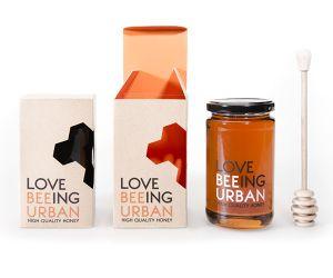 Love beeing urban honey made by Viktor Forsman #honey #packaging #design #bee #love #urban
