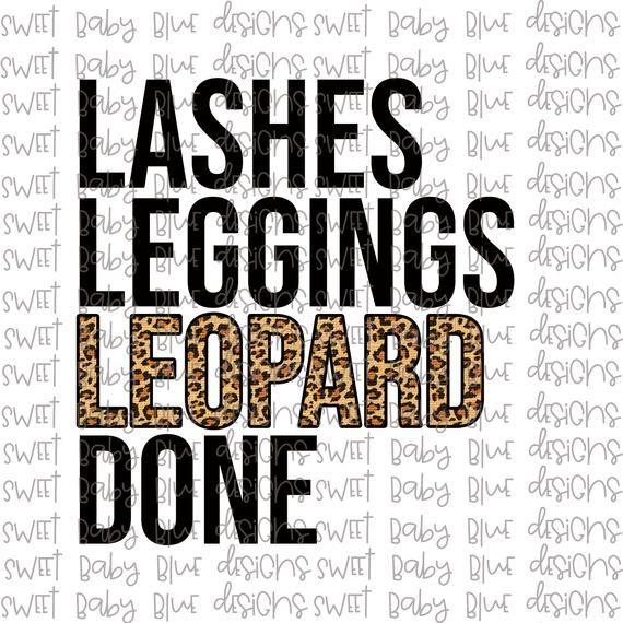 Lashes Leggings Leopard Done Digital Instant Download Png Etsy In 2020 Clip Art Digital Instant Download