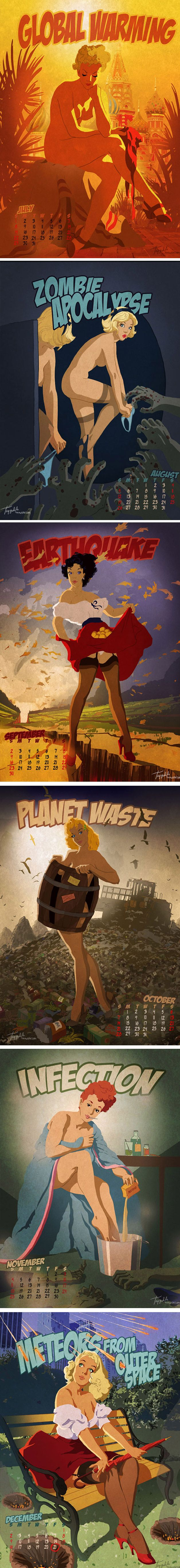 O artista russoAndrew Tarusov criou um calendário do apocalipse mostrando a cada mês os prováveis acontecimentos que mudarão o mundo no dia 21/12/2012. Acreditar ou achar uma besteira, não importa. O que importa é que ficou muito legal o trabalho e as artes.      ...
