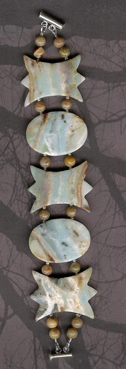Bracelet  Amazonite Autumn Jasper Sterling by ChicStatements, $55.00