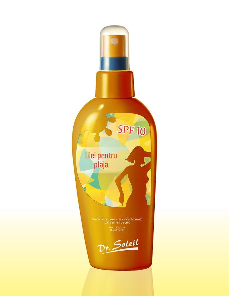 Dr Soleil - cosmetics (design - Victor Calomfir) Tanning Oil, UVA / UVB filter, SPF 10