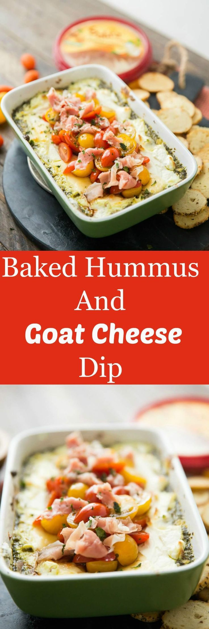 This baked goat cheese dip is so good you could eat it as a meal!  The cheese is hot and bubbly and the layers o flavor are amazing!