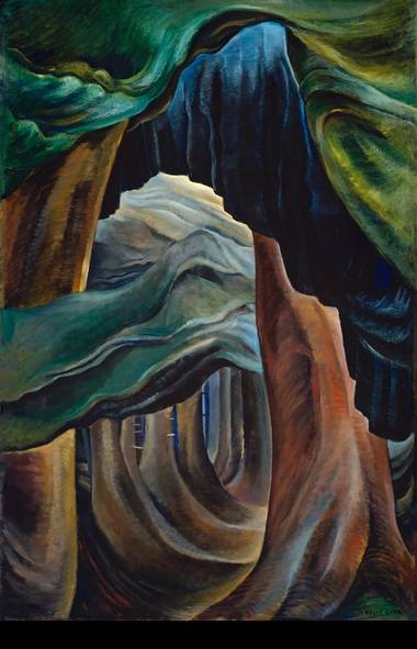 Forest, British Columbia CARR_05 - Emily Carr, Forest, British Columbia, 1931 - 1932, oil on canvas, Collection of the Vancouver Art Gallery, Emily Carr Trust, VAG 42.3.9(Trevor Mills/Vancouver Art Gallery)