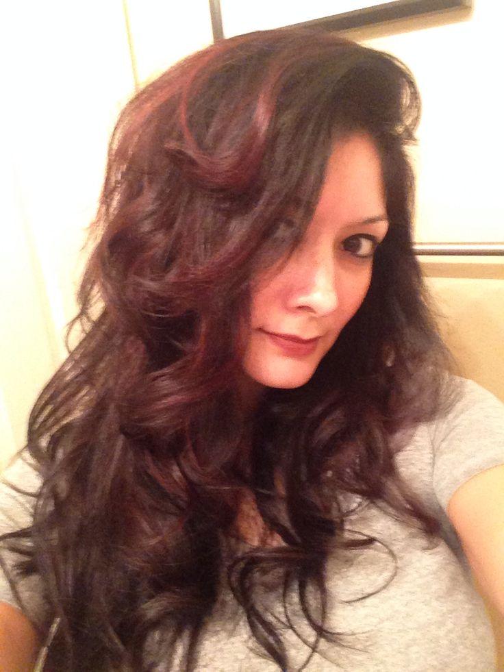 Dark Hair W Deep Red Highlights Dark Hair W Red Brwn