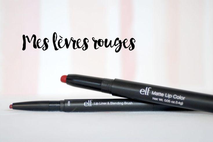 Rouge à lèvres - matte jumbo et contours elf - Revue et rendu