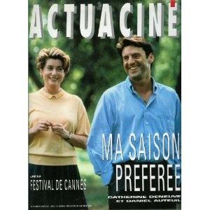 Actua Ciné n°128 du 01/05/1993 - Catherine Deneuve & Daniel Auteuil / Ma Saison préférée -... [magazine mis en vente par Presse-Mémoire]