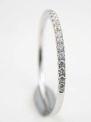 Petite Diamond Wedding Ring- delicate