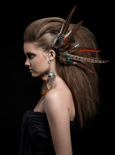 """Princess of Predators"" Photographer: Steffen Herbst Model: Abena Make-Up & Styling: Fernando Madronero #zipettmagazine"