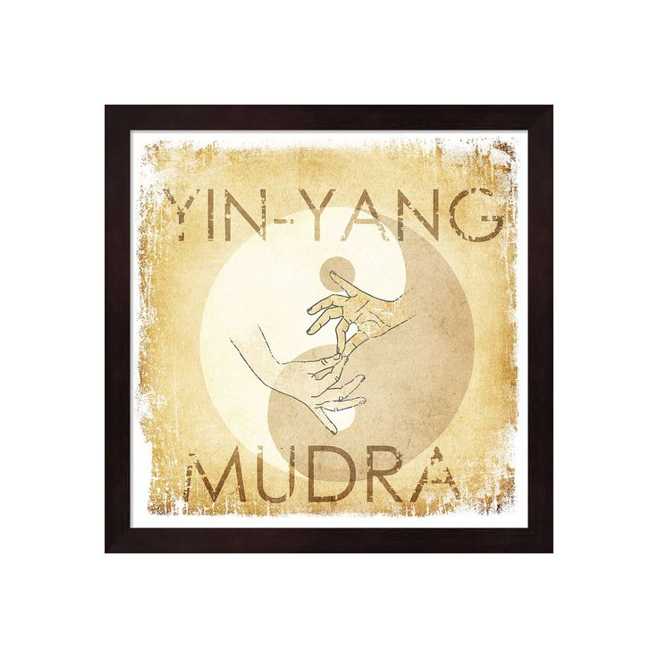 Metaverse Art Yin-Yang Mudra Framed Wall Art, Black