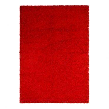 Teppich-HOCHFLOR TEPPICH Rot - veredelte synthetische Spezialfaser