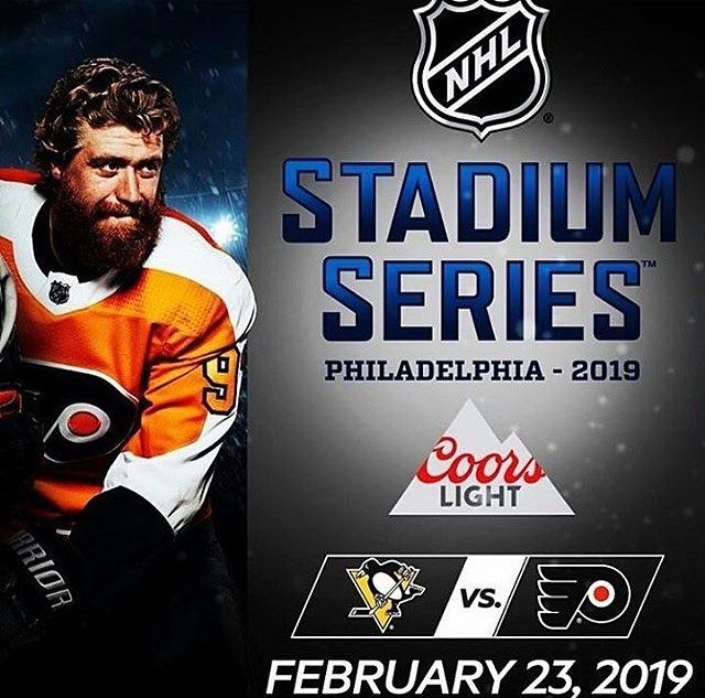 Flyers are going back outside February 23rd 2019 to take on the Penguins at Lincoln Financial Field in the Stadium Series #nhl #philadelphia #philadelphiaflyers #pittsburghpenguins #stadiumseries
