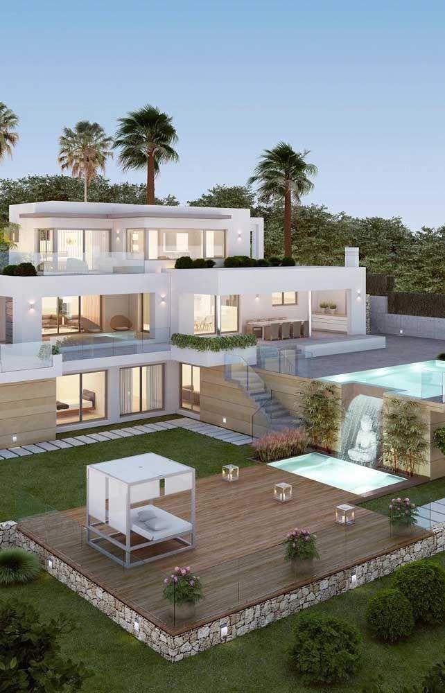 Mansoes 60 Fotos Inspiradoras Para Voce Conferir House Designs Exterior Modern House Exterior House Exterior