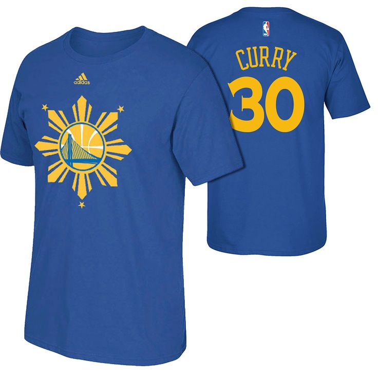 The adidas Golden State Warriors Stephen Curry Filipino Heritage Go-To T-shirt features a team logo and Filipino Heritage design screen-printed across the front, with adidas brandmark above. Stephen Curry's name and number #30 are printed on the back.  FEATURES       Fabric: 100% cotton     Filipino Heritage graphic screen-printed on front     Stephen Curry name and number printed on the back     Imported     Officially licensed NBA product