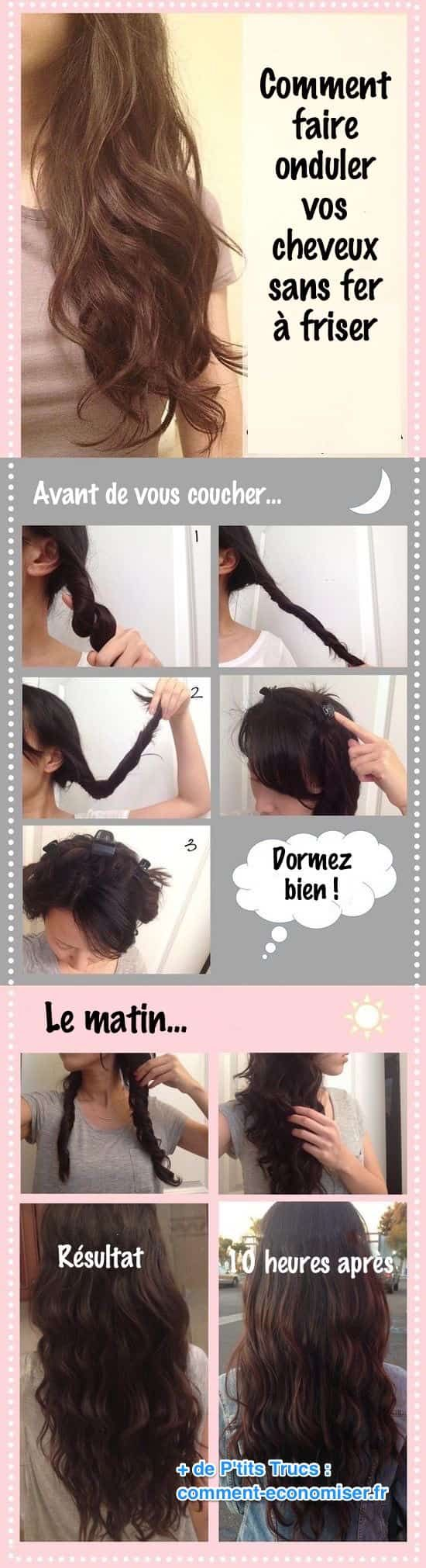 faites onduler vos cheveux sans fer à friser en faisant des tressese et des torsades